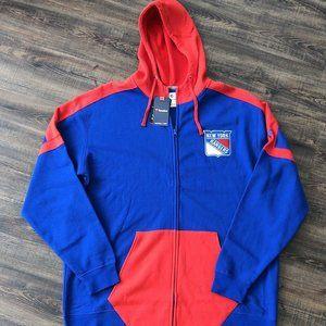 New York Rangers Zip Up Hooded Sweatshirt Sz XXL